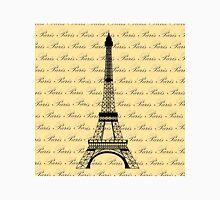Eiffel Tower Paris on Pale Yellow Unisex T-Shirt