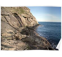 East Point Cliffs Saturna Island Poster