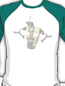 Clap Trap Steward Bot Word Art  T-Shirt