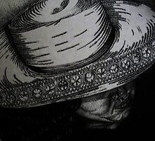 White Hat-021-B&W by Julie Ann Caldwell