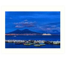 Blue Night in Naples - Mediterranean Impressions Art Print