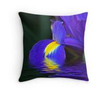 Reflections of Iris Throw Pillow