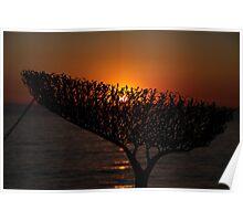 Sunrise through Sculpture - Bondi Beach Poster