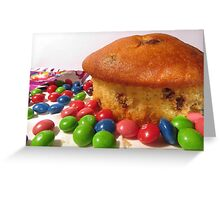Muffin and Candy Happiness Greeting Card