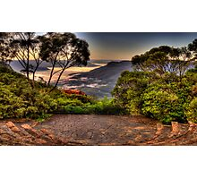 Natures Amphitheatre - Blue Mountains World Heritage Area - The HDR Experience Photographic Print