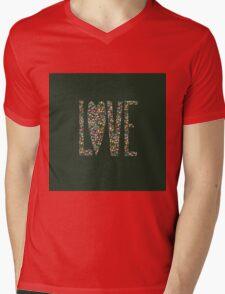 Love Flowers Floral Design Mens V-Neck T-Shirt