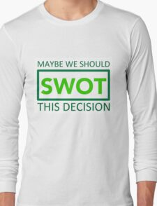 silicon valley swot green Long Sleeve T-Shirt