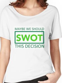silicon valley swot green Women's Relaxed Fit T-Shirt