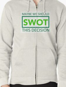 silicon valley swot green Zipped Hoodie