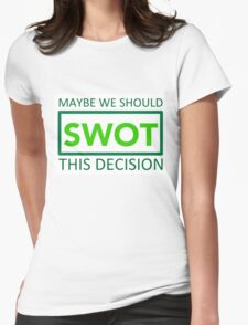 silicon valley swot green Womens Fitted T-Shirt
