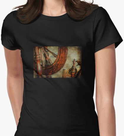 Spinning Wheel Womens Fitted T-Shirt