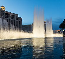 Crescendo - the Glorious Fountains at Bellagio, Las Vegas by Georgia Mizuleva
