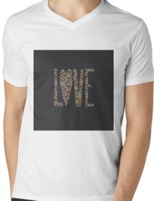 Love Flowers Floral Design Mens V-Neck T-Shirt