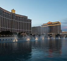 Early Evening Water Dance - Bellagio, Las Vegas by Georgia Mizuleva