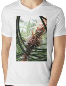 Abstract Plant Mens V-Neck T-Shirt