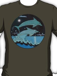 Dolphin`Leap for the Stars II' Tee Shirt T-Shirt
