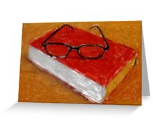 Book Under Glasses Greeting Card