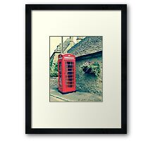 Red Telephone Box in England Framed Print