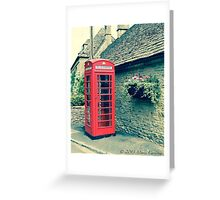 Red Telephone Box in England Greeting Card