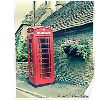 Red Telephone Box in England Poster
