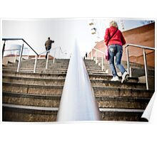 Stairway Perspective Liverpool Poster