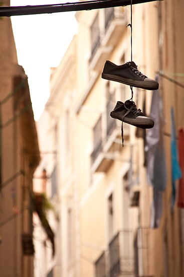 shoes on a wire, Barcelona style by ChrisH77