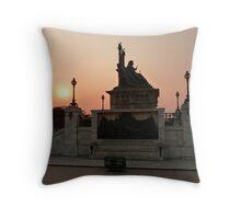 Queen Victoria Statue, Calcutta Throw Pillow