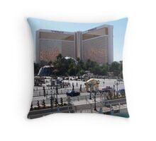 The Mirage..Las Vegas Strip Throw Pillow