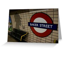 Baker Street Station London Underground Greeting Card