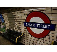 Baker Street Station London Underground Photographic Print