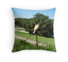 Golden Orb Spider Throw Pillow