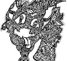 Dragon Pattern  by ScribblePuff