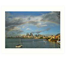 Rainbow over Sydney Art Print