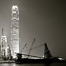 Hong Kong Harbour in smog.. by Lydia Griffiths