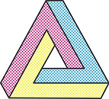 CMYK Penrose Triangle #2 by alfablot
