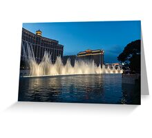 The Fabulous Fountains at Bellagio, Las Vegas Greeting Card