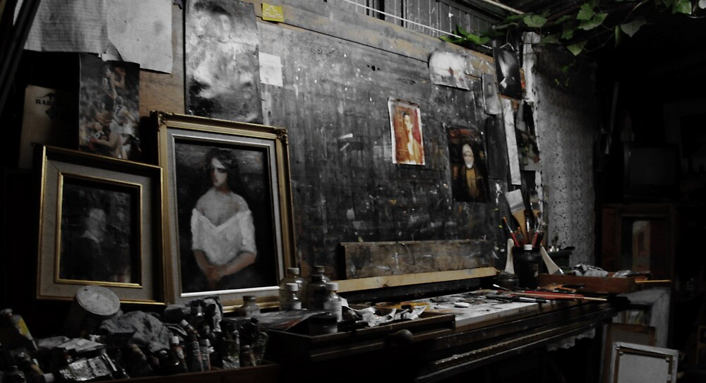 A PAINTER'S WORDS. (Claude's Studio-2) by Cosimo Piro
