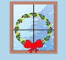 Christmas Window Wreath by elledeegee