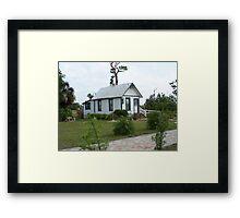 Florida Shotgun House Framed Print