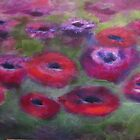 'Rununculus' abstract by Tracey Boulton