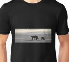 Silver Glow Panorama. Polar Bears at Sundown, Churchill, Canada  Unisex T-Shirt