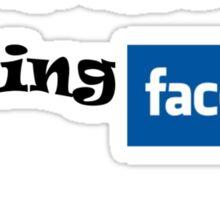 No i am not on  Facebook Sticker
