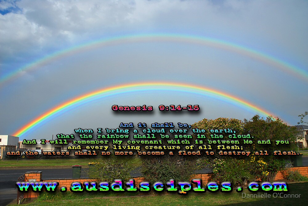 Genesis 9:14-15 Rainbow Sky by AusDisciple