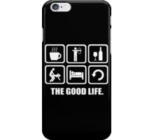 Coffee Archery Wine Sex Sleep Repeat Good Life iPhone Case/Skin