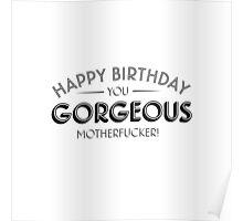 Happy Birthday you gorgeous motherfucker Poster