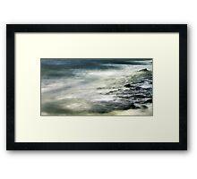 wave wandering.... Framed Print