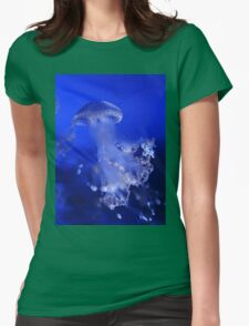 The Beauty of A Blue Jellyfish Womens Fitted T-Shirt