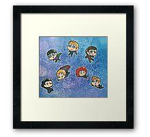 Avengers chibis Framed Print