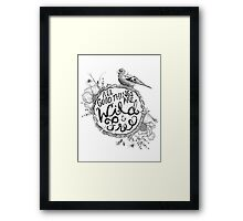 """Thoreau"" Your Life Away Framed Print"