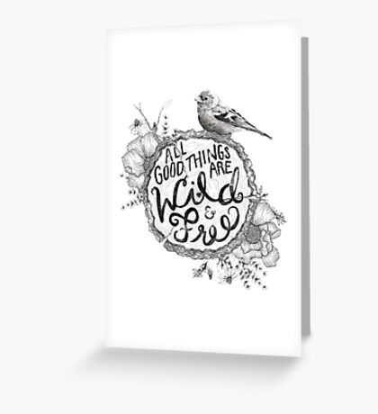 """Thoreau"" Your Life Away Greeting Card"